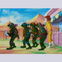 Original Teenage Mutant Ninja Turtles Production Cel