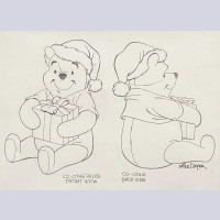 Original Walt Disney Winnie the Pooh Multi Cel Production Cel on Production Background