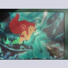 Original Walt Disney Production Cel on Color Photographic background from the Little Mermaid