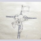 Original Walt Disney Production Drawing of Mickey Mouse from Boat Builders (1938)