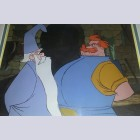 Original Walt Disney Production Cel from The Sword in the Stone featuring Merlin and Sir Ector