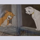 Original Walt Disney Production Cel from The Aristocats featuring Thomas O'Malley and Duchess
