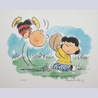 Peanuts Animation Art Limited Edition Lithograph Auugghhhh...