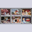 Original Walt Disney 6 Lobby Card set from Alice in Wonderland