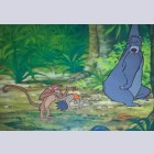 Original Walt Disney Production Cel from The Jungle Book featuring Baloo, Mowgli and Monkey