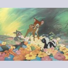 Disney Limited Edition Cel, Bambi in Flowers