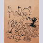 Original Walt Disney Ink on Vellum from Bambi featuring young Bambi, Flower, and Thumper