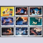Original Walt Disney 9 Lobby Card set featuring Bambi