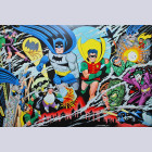 Original Gotham Graphics Batman Limited Edition Fine Art Lithograph, Guardians of Gotham City, Signed by Dick Sprang
