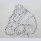 Original Walt Disney Production Drawing from Beauty and the Beast