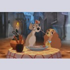 Original Walt Disney Limited Edition Cel Bella Notte from Lady and the Tramp