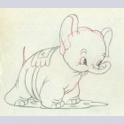 Original Walt Disney Production Drawing from Mickey's Elephant (1936)