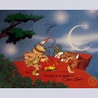 Original Warner Brothers Limited Edition Cel Dances with Wabbits Bugs Bunny & Elmer Fudd