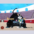 Warner Brothers Limited Edition Cel, Bugs and Bull III