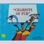 Warner Brothers Limited Edition Cel Chariots of Fur Road Runner & Wile E. Coyote