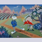 Original Warner Brothers Limited Edition Cel, Dixie