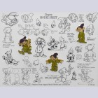 Original Walt Disney Limited Edition Pin Set, Dopey Model Sheets