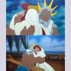 Two Original Walt Disney Production Cels from The Little Mermaid featuring Ariel and King Triton, Personalized by Jodi Benson