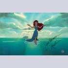 Original Walt Disney Production Cel featuring Ariel signed by Jodi Benson