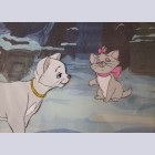 Original Walt Disney Production Cel from The Aristocats featuring The Duchess and Marie