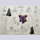 Original Walt Disney Limited Edition Pin Set, Evil Queen Model Sheets
