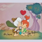 Original Hanna Barbera Flintstones Limited Edition Cel, First Kiss