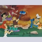 Original Hanna Barbera Flintstones Limited Edition Cel, Caveman Cookout