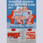 Original Theatrical Folded Double Bill One-Sheet Movie Poster from Fritz the Cat