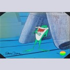 Warner Brothers Limited Edition Cel with Two Giclee Prints featuring Michigan J. Frog