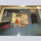 Walt Disney Production Cel on Custom Background from Snow White and the Seven Dwarfs