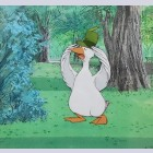 Original Walt Disney Production Cel from The Aristocats featuring Uncle Waldo