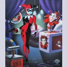 Original Warner Brothers Batman Limited Edition Cel, Classic Harley Quinn