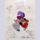 Original Walt Disney Limited Edition Masters Series featuring Captain Hook and Smee