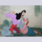 Original Disney Production Cels featuring Captain Hook and Mr. Smee from Peter Pan