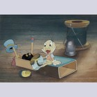 Original Walt Disney Production Cel on Courvoisier Background featuring Jiminy Cricket
