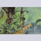 Original Walt Disney Production Cel with Color Copy Background from The Jungle Book featuring Mowgli