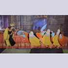 Four Original Walt Disney Production Cels on Color Copy Background featuring King Stefan and King Hubert from Sleeping Beauty