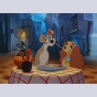 """Original Walt Disney Limited Edition Cel """"Bella Note"""" from Lady and the Tramp"""