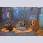 Original Walt Disney Lady and The Tramp Limited Edition 1/1 Cel, Beautiful Night