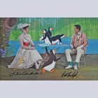Walt Disney Mary Poppins Limited Edition Cel, Tea Time with Mary, Signed by Julie Andrews and Dick Van Dyke