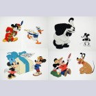 Original Walt Disney Mickey Mouse 50th Anniversary Commemorative Limited Edition Cel Portfolio