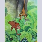 Original Walt Disney Production Cel from The Jungle Book featuring Monkeys