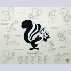 Original Warner Brothers Limited Edition Model Cel Featuring Pepe LePew