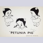 Warner Brothers Original Publication Animation Licensing Model Sheet of Petunia Pig, Signed by Virgil Ross