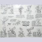 Original Walt Disney Model Sheet of Pinocchio and Jiminy Cricket