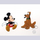 "Original Walt Disney Limited Edition Sericel ""Mr. Mouse Takes a Trip"" Featuring Mickey Mouse and Pluto"