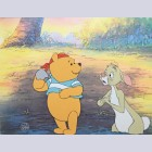 Original Walt Disney Winnie the Pooh Production Cel of Winnie the Pooh and Rabbit