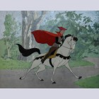 Original Disney Production Cel Featuring Prince Phillip and Samson
