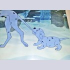 Original Walt Disney Production Cel from 101 Dalmatians featuring puppy