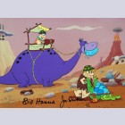 Hanna Barbera The Flintstones Limited Edition Cel, Rock Stars